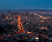Evening Falls in San Francisco