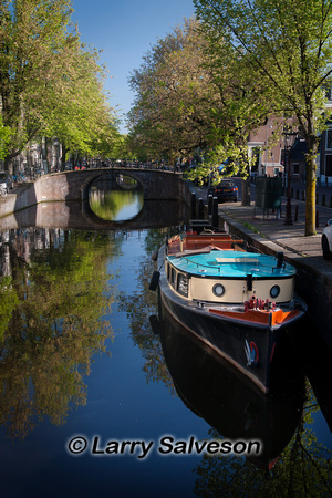 Boat in Canal, Amsterdam